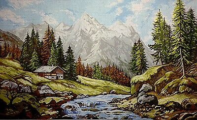 "Gobelin Tapestry Needlepoint Kit ""Italian Alps"" embroidery printed canvas 195"
