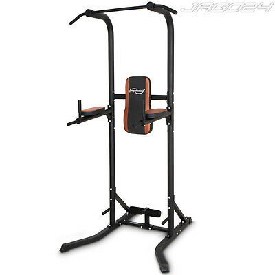 Fitness Power Tower Triceps Back Abs Dip Station Pull Push Sit Up Gym Workout