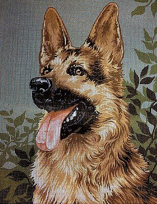 "Tapestry Gobelin Needlepoint Kit ""German shepherd"" printed canvas embroidery 285"