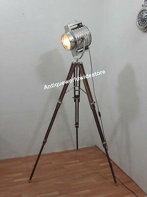 Studio Floor Lamp Searchlight Spot Light With Tripod Stand Home