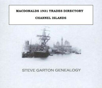 Macdonalds 1931 Directory Of The Channel Islands - Genealogy Cd