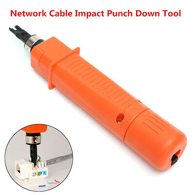 Telephone Wire Reticle Keystone Network Cable Impact Punch Down Tools Orange