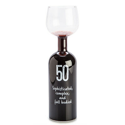 The Wine Bottle Glass - 50Th Birthday Sophisicated Complex And Full Bodied 750Ml