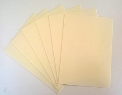 10 A4 white foam sheets- Adhesive backed one side - 1mm thick