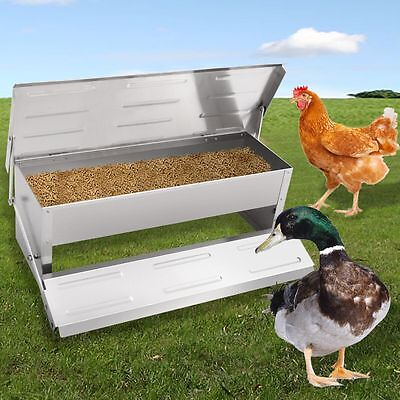 Automatic Chicken Feeder Auto Treadle Self Opening Aluminium Feed Chook Poultry