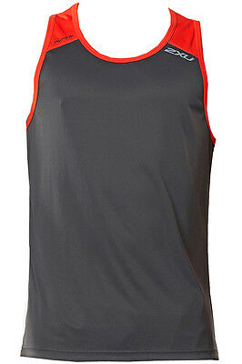New 2Xu Tech Vent Men Two Tone Top  Medium M Training Fitness Singlet