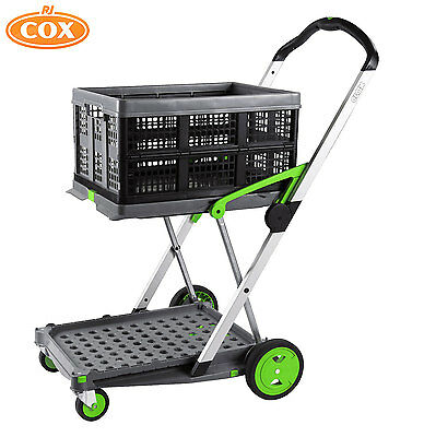 Clax Cart Collapsible Folding Trolley Ideal for Hospitals, Librarys and Offices