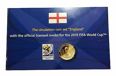 England Circulation Set with Official Licensed Medal for 2010 World Cup