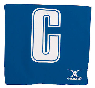Clearance Line New Gilbert Netball Patch Bibs (14) Royal / White
