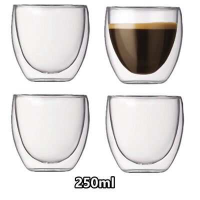 Set of 8 BODUM Pavina 250ML Double Wall Glasses Brand New