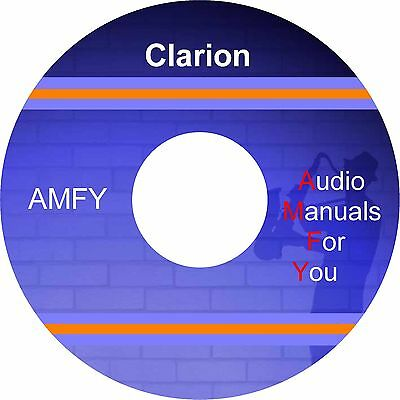 CLARION SERVICE MANUALS, owners manuals and schematics on 1 DVD, all on