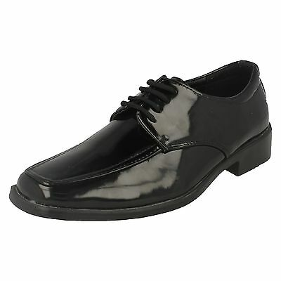 WHOLESALE Boys Patent Formal Shoes / Sizes 11x4 / 16 Pairs / N1076