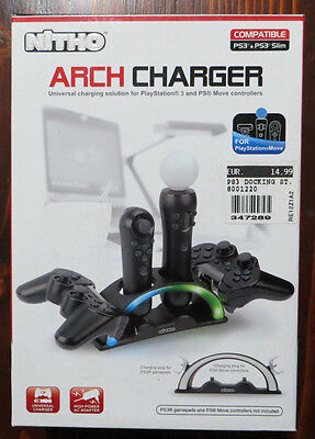 NITHO Arch Charger - Caricatore per controller PS3
