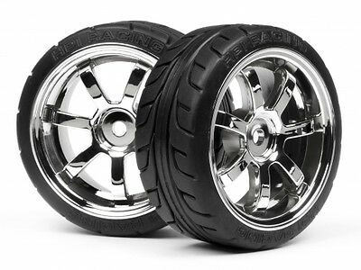 HPI Mounted T-grip Tire 26mm Rays 57s-pro Wheel Chrome #4738