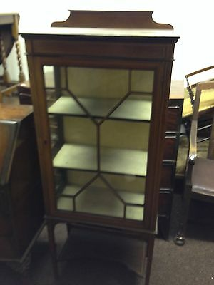 """Antique Edwardian Cabinet. Inlaid. Dainty. Old. Quality. Shabby Chic 30""""wx44""""h"""