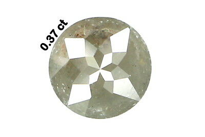 0.37 Ct Natural Loose Diamond Rose Cut Round Shape Grey Color N1862