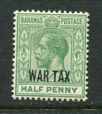 Bahamas: 1918 George V ½d stamp with War Tax overprint SG96 MM Y245