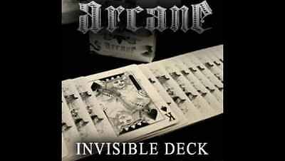 MAGIC TRICK WHITE ARCANE INVISIBLE DECK & INSTRUCTIONS Gaff Bicycle Cards New
