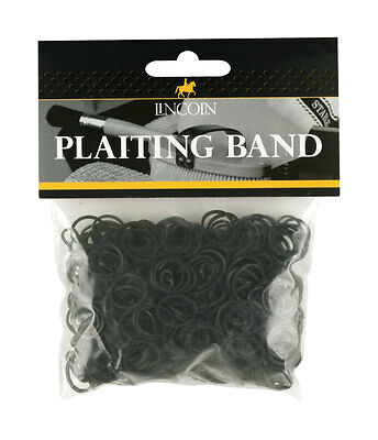 Lincoln Plaiting Bands approx 500 per pack in White, Brown and Black
