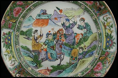 Famille Verte Plate Canton Hand Painted Kangxi Porcelain 18Th Chinese Export