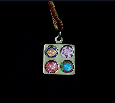 It Ensures Success In Studies & Exams-Shri Vidhya Dayak Yantra Locket With Mauli