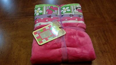 Girls quilt kit Cuddly and cute soft pinks and greens flowers, butterflies