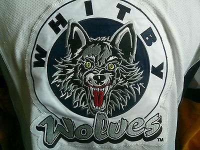 Whitby Wolves (Chicago Wolves) white  Game Worn Jersey  OMHA