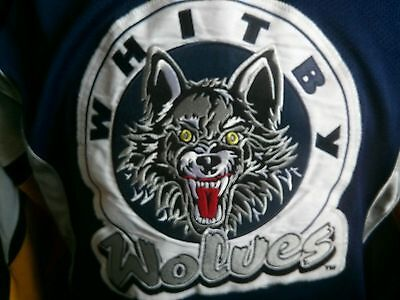 Whitby Wolves (Chicago Wolves) blue  Game Worn Jersey  OMHA