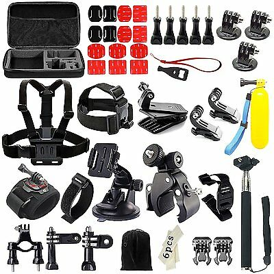 55 in 1 Action Camera Accessory Kit for Gopro HERO in Shockproof Carrying Case