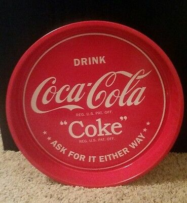 Coca Cola Coke Retro Metal Beverage Tray