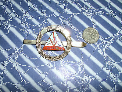 Large Vintage Austrian Ski Club Badge - Copper And Brass And Enamelled Ehrwald