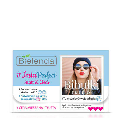 Bielenda Insta Perfect Matt and Clean Face Blotting Paper 100% Mixed Oily Skin