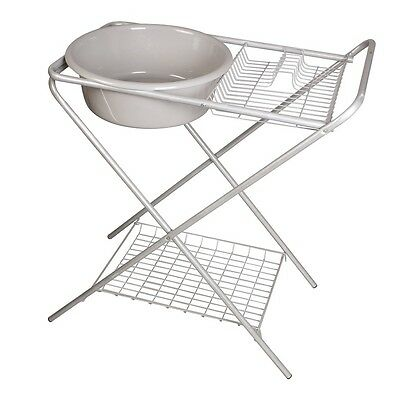Kampa Washing Up Bowl With Stand / Camping / Removable Bowl / Side Drainer