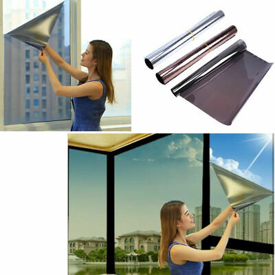Silver Reflective One Way Window Film Foil Mirror Privacy Sticky Glass Tint