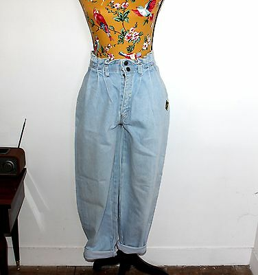 jean taille haute 80's bleu clair taille Medium vintage Made in France