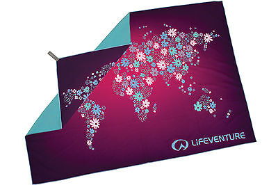 SoftFibre Printed Towel - Giant - World in Flowers- Lifeventure