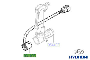 Genuine Hyundai Amica Ignition Switch - 9311002000