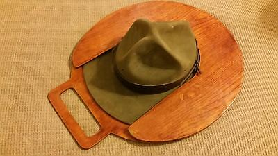VINTAGE Boy SCOUT MASTERS HAT  With A Special Case / Holder