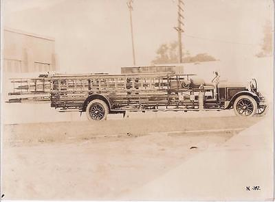 Orig. 1930s photo Fire Truck with Ladders Peter Pirsch & Sons Stevens Point, WI