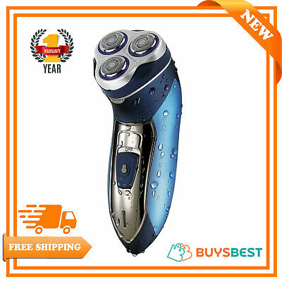 Omega Mens Electric Cordless Rechargeable Shaver Washable Floating Head - 20905