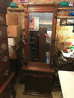 1800s  Victorian Wall/Hall Mirror & Shelf- E Coast Ship. Avail.