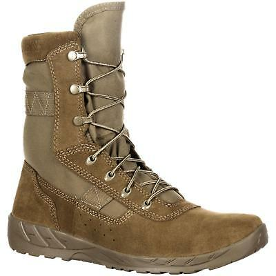"""Rocky RKC065 C7 CXT 8"""" Lightweight Coyote Brown Tactical Military Combat Boots"""