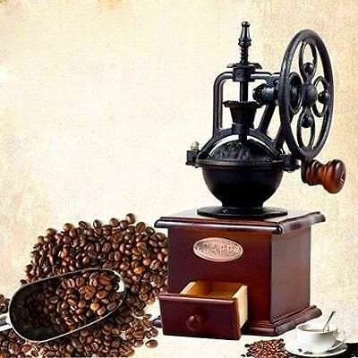 Gourmia Manual Coffee Grinder Antique Cast Iron Hand Crank Coffee Mill W