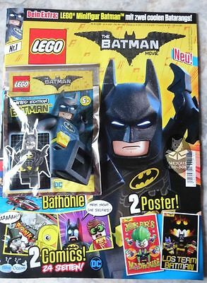 LEGO Batman Movie Magazin mit Minifigur: BATMAN + 2 BATARANGS, LIMITIERT