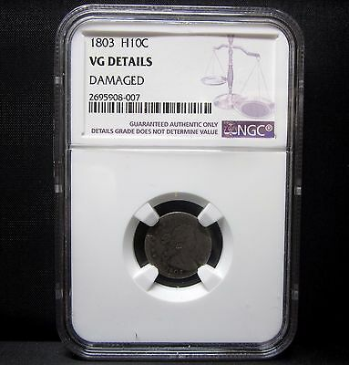 1803 Draped Bust Half Dime ✪ Ngc Vg Details ✪ Small 8 H10C Silver ◢Edelmans◣
