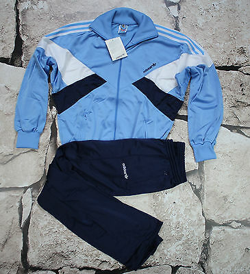 _ ADIDAS _ NEW VINTAGE TRACKSUIT _ 1980's _ S _ D4 _ POLYESTER _ ULTRA RARE _