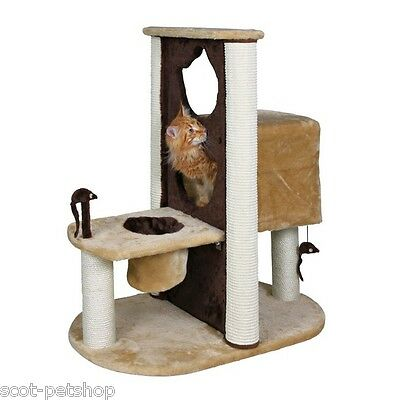 Amelia Trixie Cat Scratching Tree Cat Activity Centre Sisal Beige Brown 93 cm