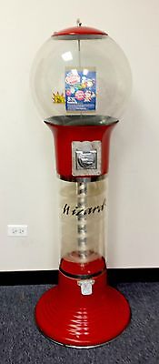 Wizard 25 ¢ Quarter Spiral Vending Machine for Gumballs, Bouncy Balls, -RED