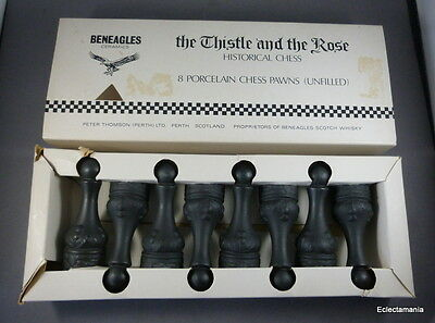 Wade Beneagles Set of 8 Black Pawns For The Thistle & Rose Chess Set (B. Cal)