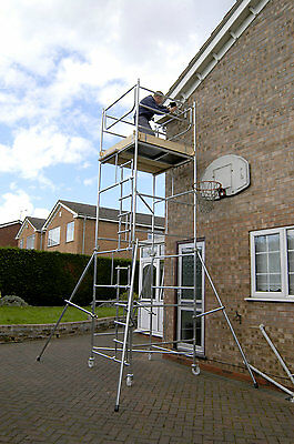 "DIY Scaffold Tower 5.5m (4' x 4' x 17'0"" WH) Supplied With 2 Stabilisers"